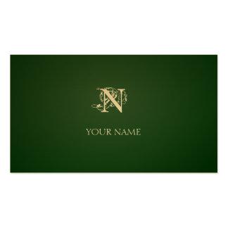 Ouro verde escuro de Nouveau Cartões De Visita