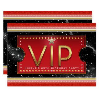 Ouro vermelho preto & convite de prata do bilhete