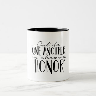 Outdo na caneca da honra