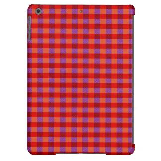 Outono à moda teste padrão colorido da xadrez capa para iPad air