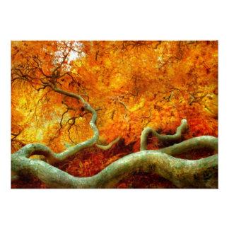 Outono - árvore - serpentina convite personalizado