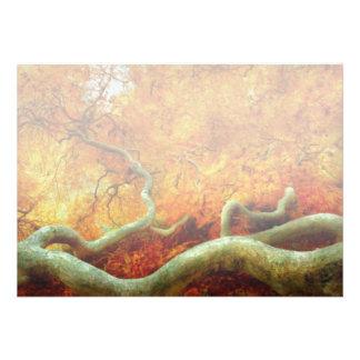 Outono - árvore - serpentina convite