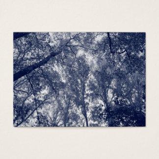 Outono azul cartão de visitas