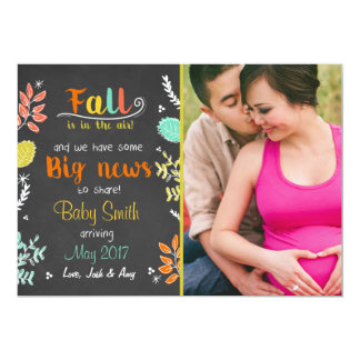 Outono do anúncio da gravidez da queda da acção de