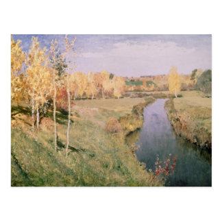 Outono dourado, 1895 cartão postal