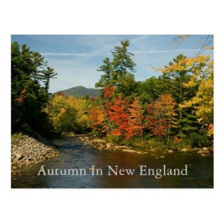 Outono no cartão   de Nova Inglaterra
