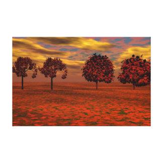 Outono surreal impressão em tela