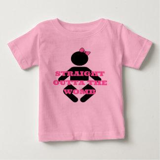 Outta reto a camisa dos bebés do rosa do ventre