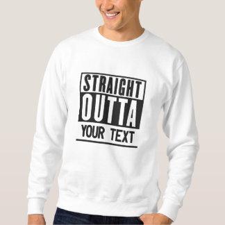 Outta reto adiciona seu texto da atividade do suéter bordado