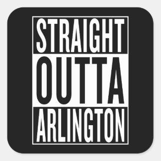 outta reto Arlington Adesivo Quadrado