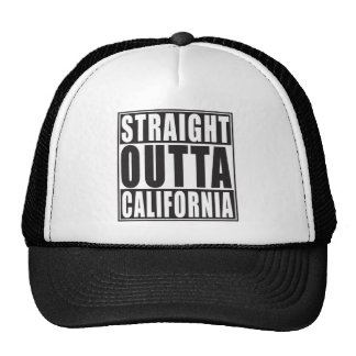 Outta reto Califórnia Boné