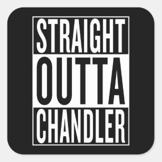 outta reto Chandler Adesivo Quadrado