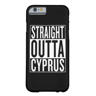 outta reto Chipre Capa Barely There Para iPhone 6