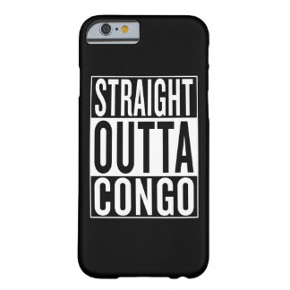 outta reto Congo Capa Barely There Para iPhone 6