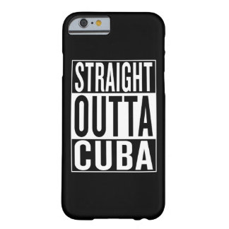 outta reto Cuba Capa Barely There Para iPhone 6