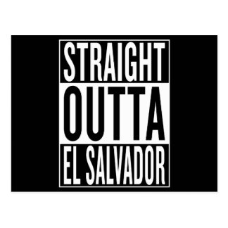 outta reto El Salvador Cartão Postal