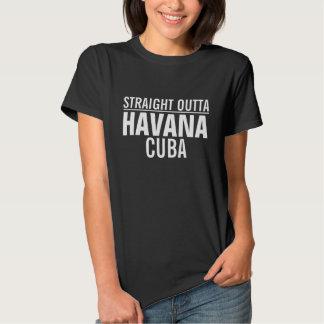Outta reto Havana Cuba Camisetas