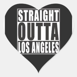 Outta reto Los Angeles Adesivo Coração