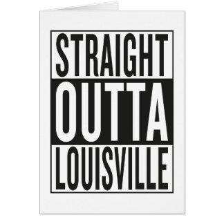outta reto Louisville Cartão Comemorativo