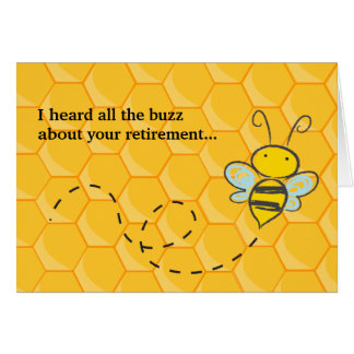 Ouviu toda a aposentadoria bonito da abelha do cartão comemorativo