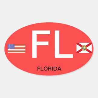 Oval BumperSticker do Euro--Estilo de Florida* Adesivo Oval