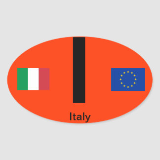 Oval BumperSticker do Euro--Estilo de Italy* Adesivo Oval