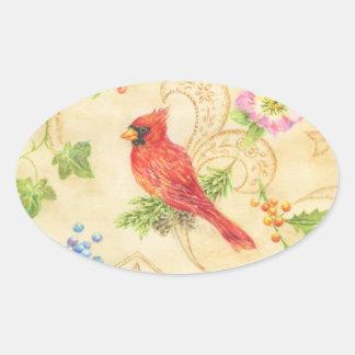 Oval cardinal do estilo do vintage das etiquetas