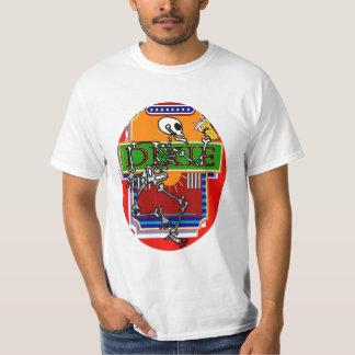 Oval de esqueleto de Dixie Camiseta