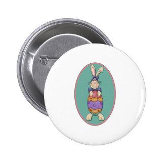 Oval do ovo do coelhinho da Páscoa Botons
