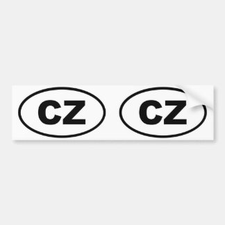 Oval europeu da CZ da república checa Adesivo