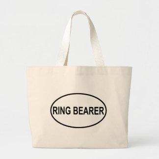 Oval Wedding do portador de anel Bolsas Para Compras