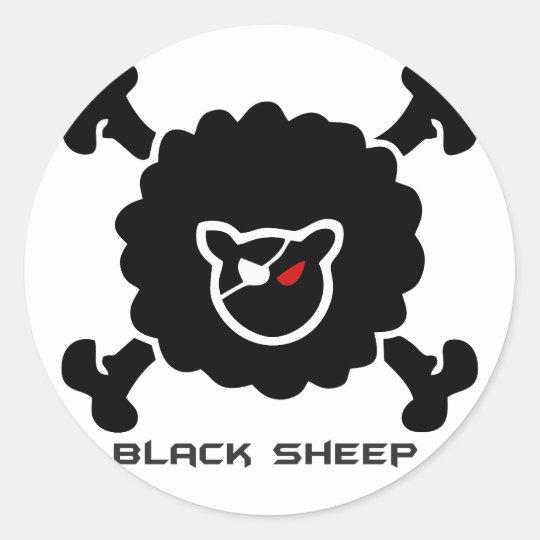 Ovelha Negra Adesivo Redondo