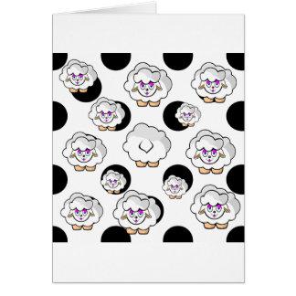 ovelhas bolinhas cartão comemorativo