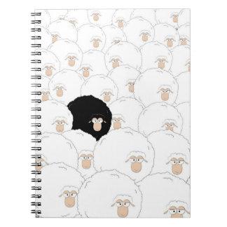 Ovelhas negras cadernos espiral