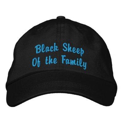 Ovelhas negras da família boné bordado