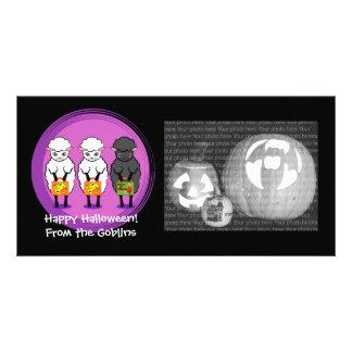 Ovelhas negras do Dia das Bruxas Cartão Com Foto