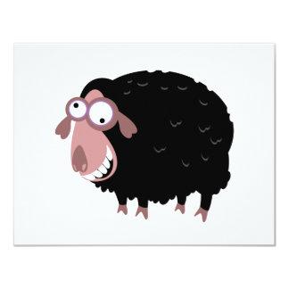 Ovelhas negras engraçadas convite 10.79 x 13.97cm