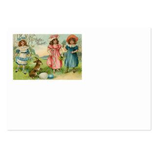Ovo colorido coelhinho da Páscoa das crianças do Cartão De Visita Grande
