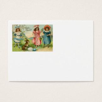 Ovo colorido coelhinho da Páscoa das crianças do Cartão De Visitas