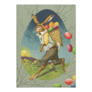 Ovo colorido coelhinho da Páscoa Sun Convite 12.7 X 17.78cm