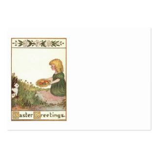 Ovo colorido lírio da cesta do coelhinho da Páscoa Cartão De Visita Grande