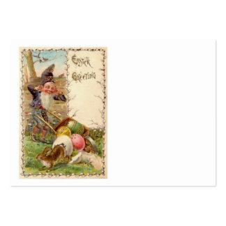 Ovo colorido pintado gnomo do coelhinho da Páscoa Modelos Cartões De Visita