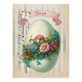 Ovo da flor da páscoa do Victorian Cartão Postal