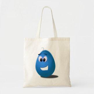 Ovo da páscoa azul bolsa de lona