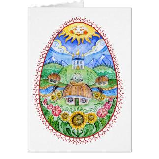 Ovo da páscoa do ucraniano de Pysanka Cartão Comemorativo