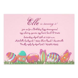 Ovo da páscoa março, festa de aniversário Invitati Convite