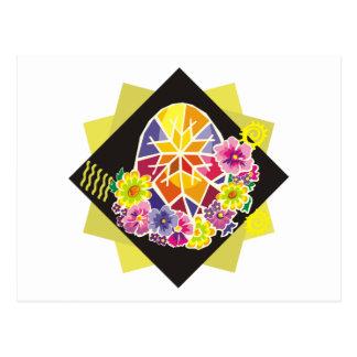 ovo da páscoa pintado ucraniano (20) cartão postal