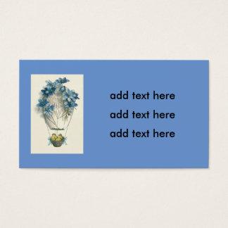 Ovo do balão de ar quente do pintinho da páscoa cartão de visitas