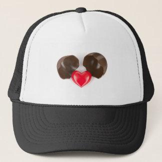 Ovo e coração de chocolate boné