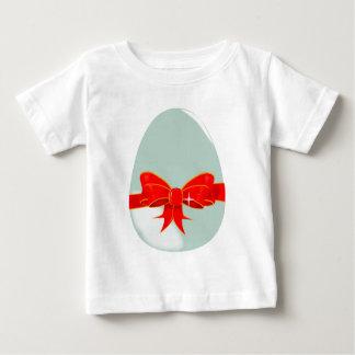 Ovo e fita camiseta para bebê